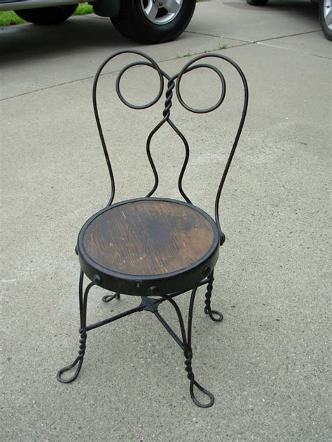childs chair vintage wrought iron