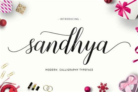 sandhya script  font fondfont