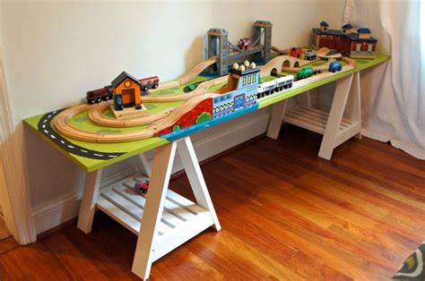 63 Best Images About Diy Train Tables On Pinterest Chestnut Kitchen Cabinets Green And White Kitchens With Grey Where To Get Cheap Rta Two Toned In Roll Out Shelves Do It Yourself