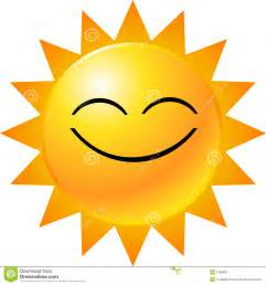Sunshine Smiley Face Clip Art