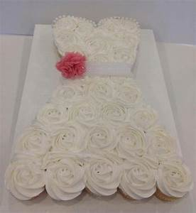 amazing bridal gown cupcake cake aximediacom With cupcake wedding dress