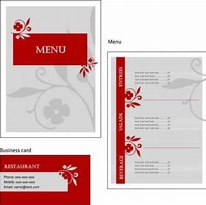 レストランやカフェに最適! おしゃれなメニュー用テンプレート(EPS) - Free-Style