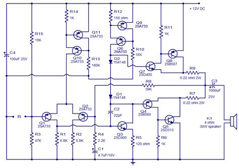 class ab amplifier vcircuit diagram world