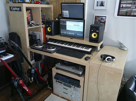 recording studio desk ikea ikea hackers lack rack expedit desktop synthesizerz