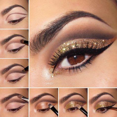 schminken vir bronze lidstrich schwarz pinsel auftragen anleitung augenbrauen make up augen braune augen