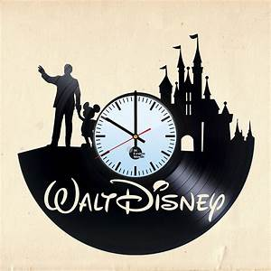 Walt Disney World Handmade Vinyl Record Wall Clock Fan