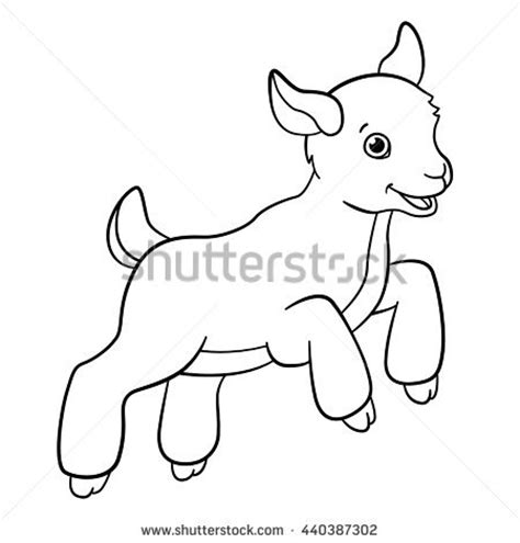 drawn goat cute pencil   color drawn goat cute