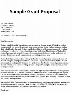 how to write a letter of application for grant With proposal template for funding request