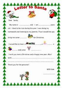 Letter to santa claus worksheet by mikaela for Cheap letters from santa claus