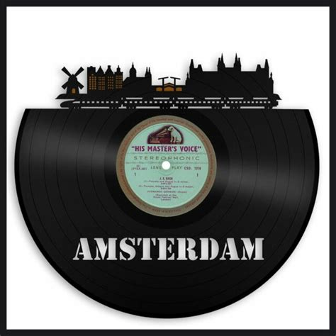 Personalized wall decorations have now evolved to a whole new level. Amsterdam Vinyl Wall Art Boyfriend Best Gift Cityscape ...