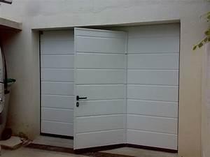 porte de garage avec portillon hormann prix automobile With porte de garage enroulable avec serrure prix