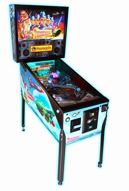 Pinball Thunderbirds Machine Machines Catching Fully