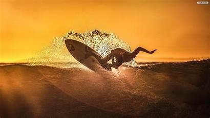 Surf Sunset Surfing Wallpapers Dotson Jeff Rage