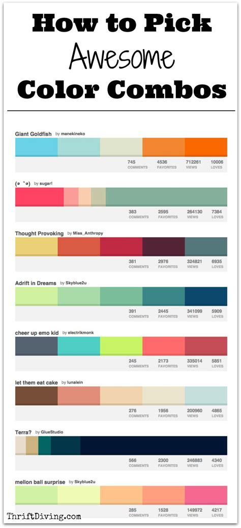 how to pick awesome color combos paint color combos