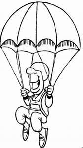 Mann Mit Fallschirm Ausmalbild Malvorlage Die Weite Welt