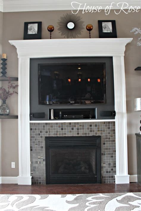 trim around fireplace modern fireplace makeover