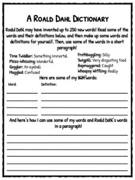 Roald Dahl Facts, Information and Worksheets | Teaching