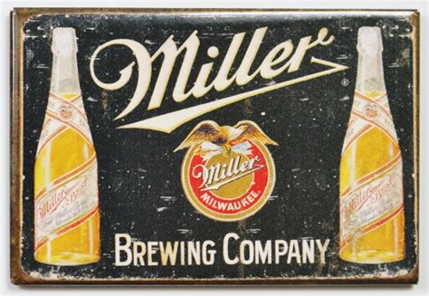 miller brewing company fridge magnet beer brewery label