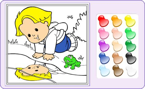 coloring games   people baby games  fisher