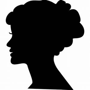 Female head silhouette Icons | Free Download