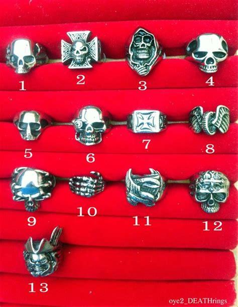 jual cincin tengkorak skull ring baja titanium bikers rockers harga grosir murah di lapak reza