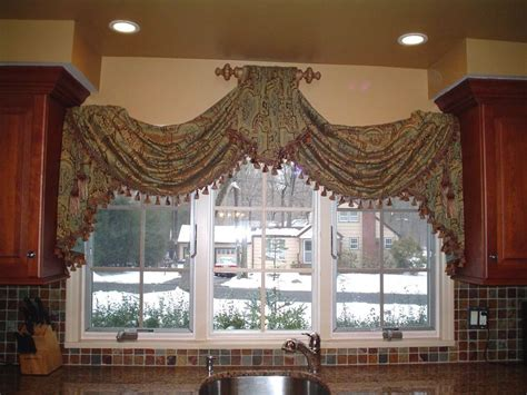 Swag Valances Window Treatments by Raised Swag Curtains Middle Offices And Sinks