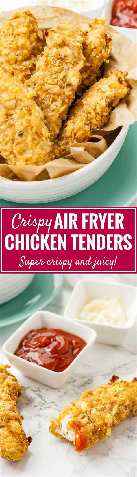 chicken fryer air tenders crispy recipes fingers homemade platedcravings cravings fried strips recipe breaded fry juicy buttermilk long kfc panko