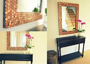 Diy creative and unique mirror frames ideas