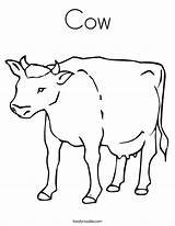 Cow Coloring Pages Printable Outline Print Tracing Farm Clip Twistynoodle Built California Usa Getcoloringpages Library Clipart Noodle sketch template