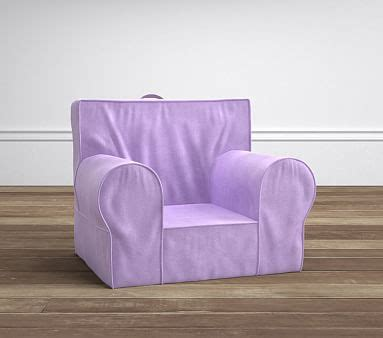 ruffle anywhere chair slipcover only lavender velvet anywhere chair pottery barn