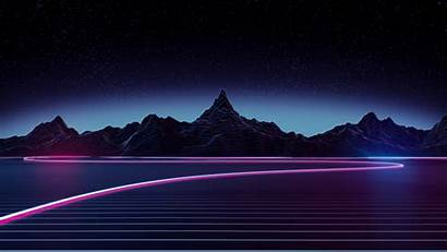 4k Retrowave Highway Wallpapers Abstract Backgrounds Synthwave