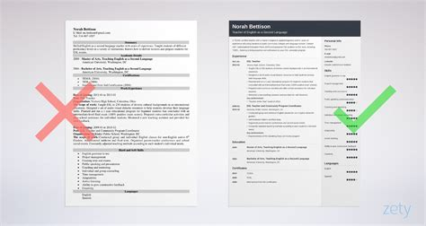 esl teacher resume examples esl teaching  resumes