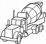 Cement Drawing Truck Concrete Coloring Mixer Pages Clipartmag sketch template