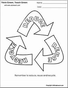 coloring page think green reduce reuse recycle With how to recycle