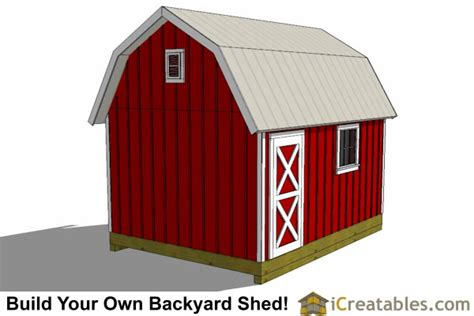 12x16 Gambrel Storage Shed Plans by 12x16 Gambrel Shed Plans 12x16 Barn Shed Plans