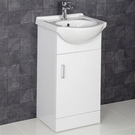 Vanity Unit Basin by Essence White Gloss Cloakroom Vanity Unit With Basin 450mm