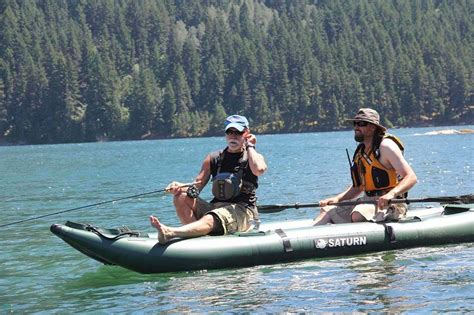 Fishing Off An Inflatable Boat by Saturn Ocean Pro Angler Inflatable Fishing Kayaks On Sale