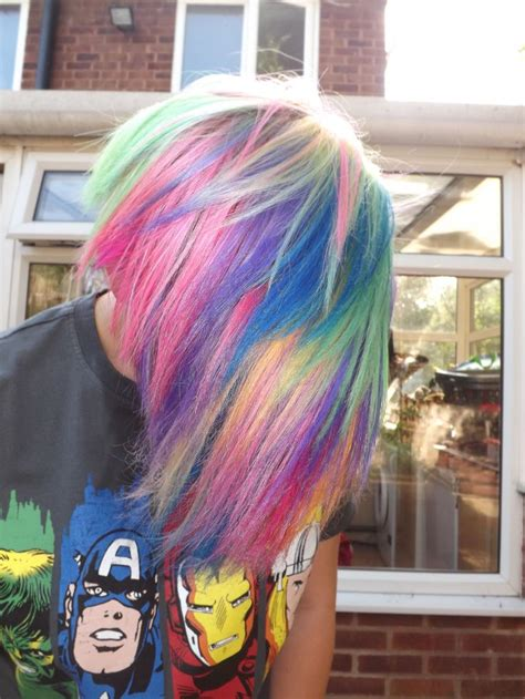 Rainbow Hair Love It Wish I Could Get Away With
