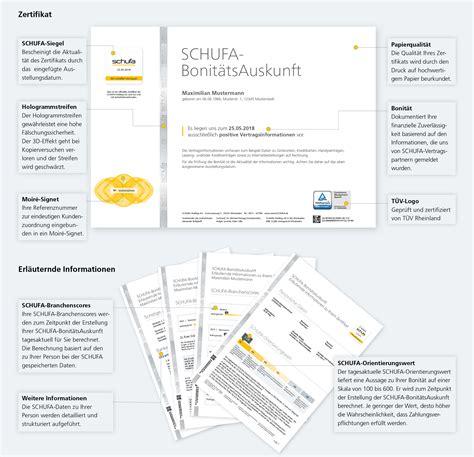 Schufa Auskunft Für Vermieter by Schufa Schufa Auskunft Verlangt So Sch 252 Tzt Seine