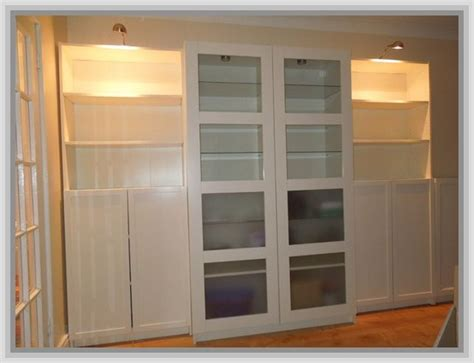 Ikea Billy Bookcase With Glass Doors