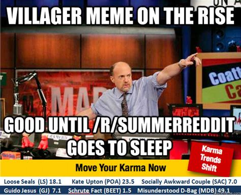 Funny Villager Memes - villager meme on the rise good until r summerreddit goes to sleep jim kramer with updated