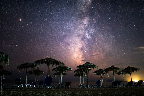 Milky Way Galaxy Night Sky Stocksy United