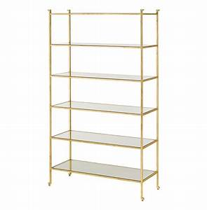 Classic Hollywood Regency Gold Leaf Etagere Display Bookcase