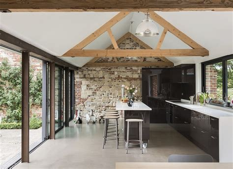 contemporary barn conversion abbey hall   picturesque town  eye