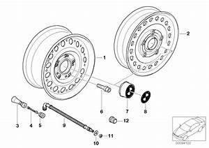 Bmw Z3 Compact Spare Wheel  Steel  Black  3 0bx16 Et 32