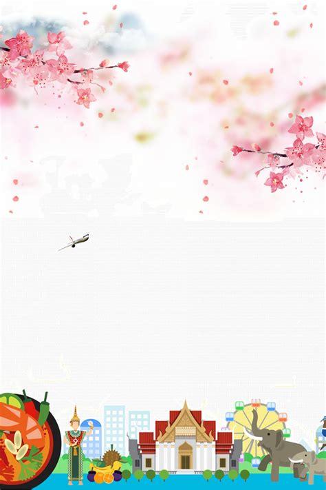 summer  thailand global travel poster background