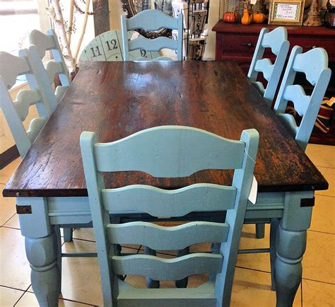 table farmhouse paint country french kitchen halcyon rustic chairs milk designs gel stain painted tables stunning dining painting room flat