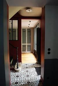 Carreaux De Ciment Rouge : entr e gris et rouge brique avec carreaux de ciment ~ Melissatoandfro.com Idées de Décoration
