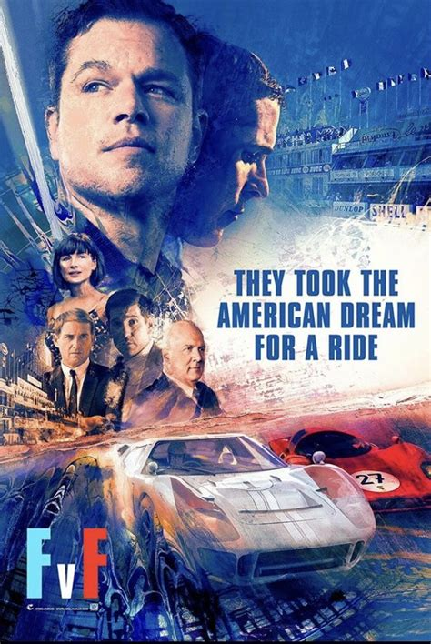 Ford v ferrari made an unexpected splash at the 2020 oscars, proving that the academy awards is at its heart a celebration of dad movies. Ford vs Ferrari Movie Poster. | Streaming movies free, Ferrari, Ford