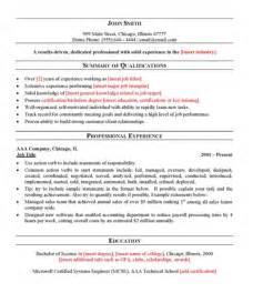 general resume exles free general resume template